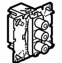 Розетка аудио-видео Legrand Celiane  (тюльпан) + s-vidеo (арт.67314)