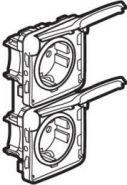 Розетка Legrand Plexo IP55 2К+З немецкий стандарт,2поста,вертикальная (арт.69577)