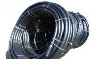 Труба гладкая ПВД в рулонах черная D20