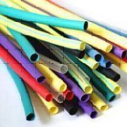 Термоусадочная трубка D2,5-1,259(цвет:белый, желтый, зеленый, красный, синий, черный) (Арт. ТУТ2,5-1,25)