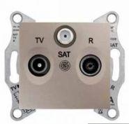 Розетка TV-R-SAT оконечная 1 dB Sedna (бежевый)