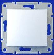 Двухполюсный выключатель IP44 одноклавишный Sedna (белый)